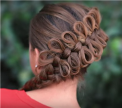Fancy diagonal bow braid
