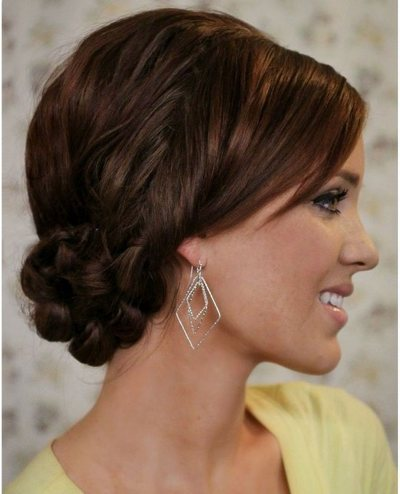Very Easy Knotted Updo.