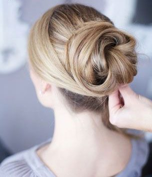 Long Hair Bun Step by Step.