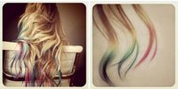 The Perfect Combination for a Colorful Tie-Dyed Hair.