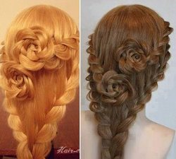 BLOG about fashion and hair: How Simple Braids Become Flowers