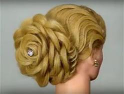 BLOG-Wedding hairstyle rose shaped