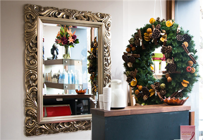 How to decorate my hairdressing for Christmas