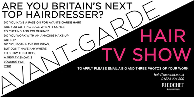Hairdressing Job offer Are you Britain's next TOP HAIRDRESSER?
