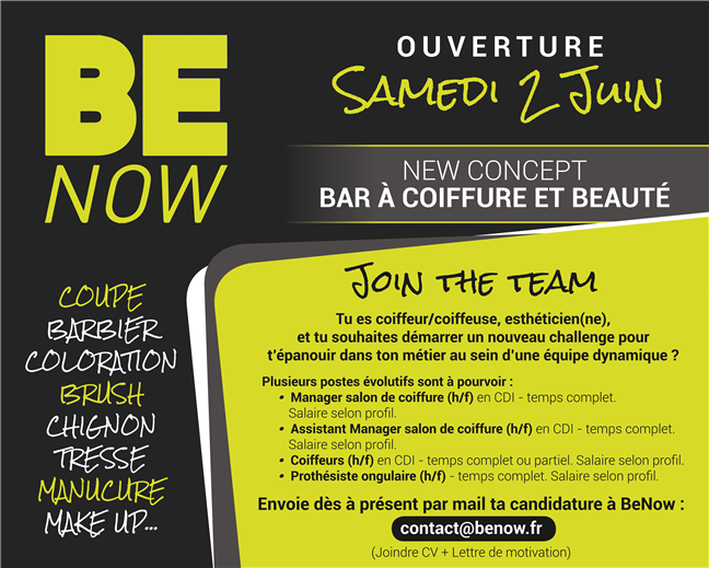 Hairdressing Job offer Coiffeur Mixte H/F