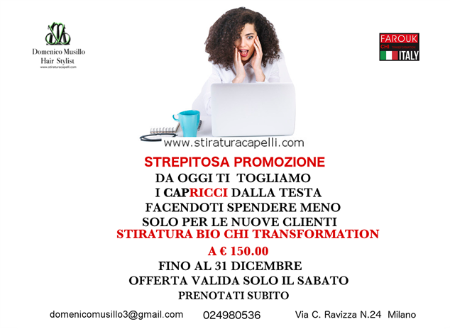 Hairdressing Job offer Domenico Musillo Hair Stylist