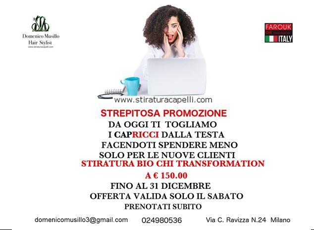 Hairdressing Job offer Domenico Musillo Hair Stylist