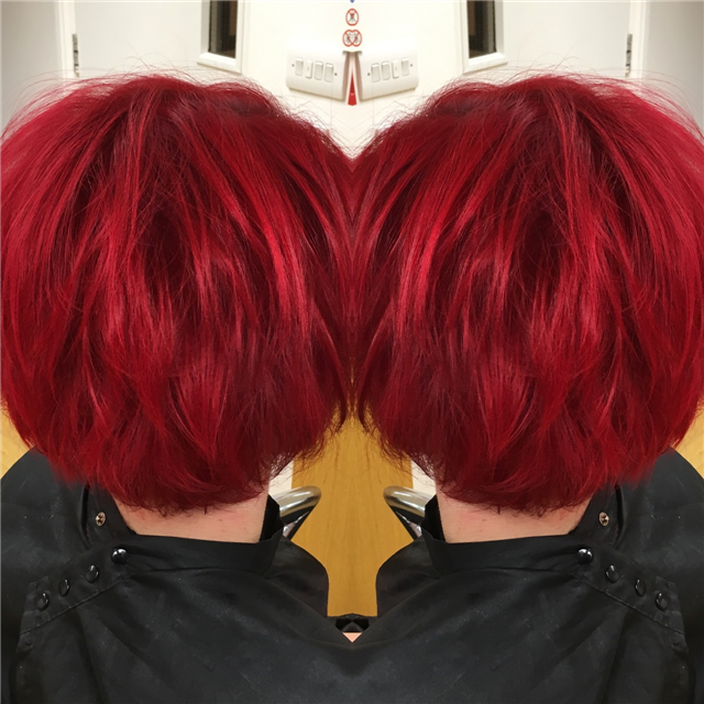 From blonde to fabulous red