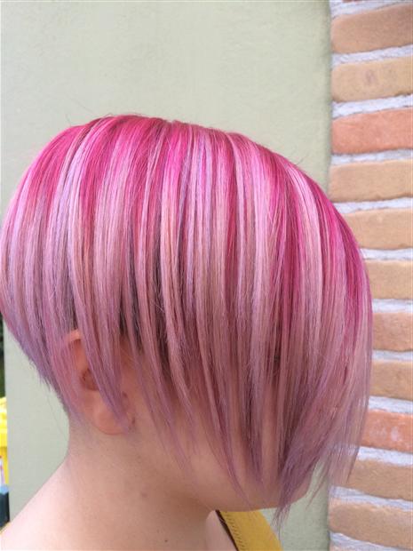 Balayage con sfumature rosa