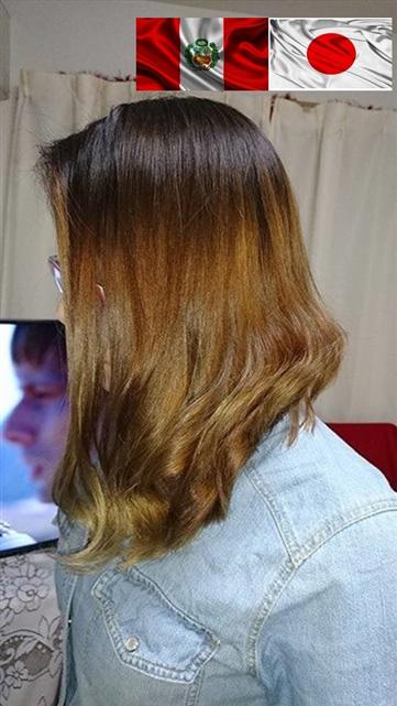 mechas ombre hair en ton dorado