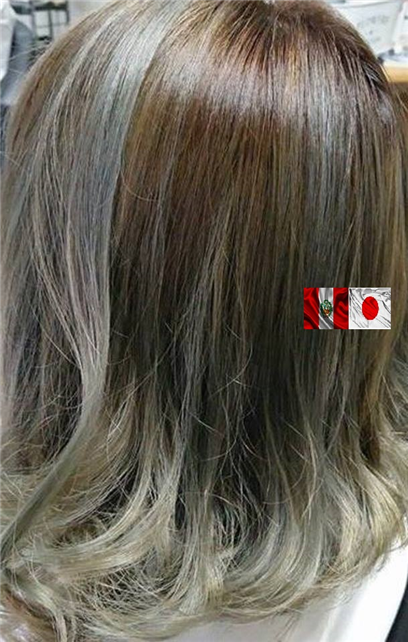 mechas  balayage , texanas color cenizo plata