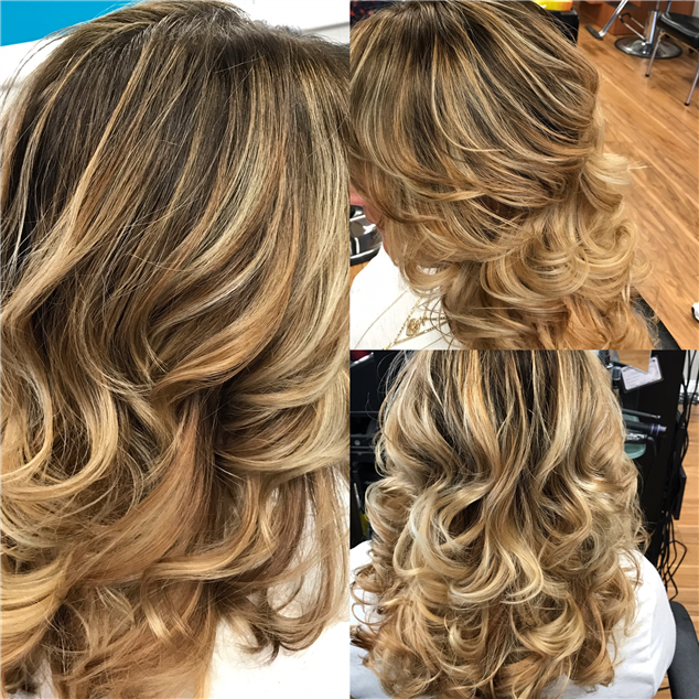 Dramatic balayage ombré  color melt