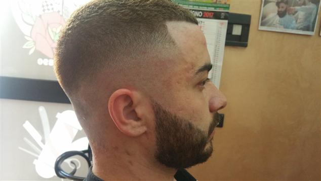 Razor fade e barba modellata
