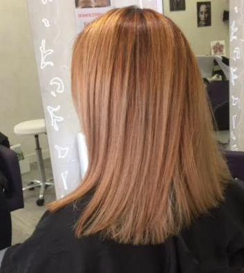 Balayage blond et marron clair