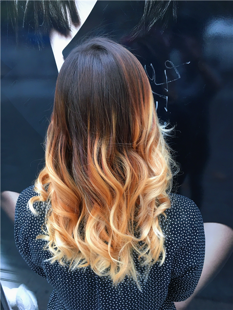 Blond Hair Champagne