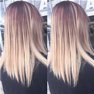 Ombre hair blond beige