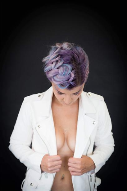 Rainbow hair et tresse