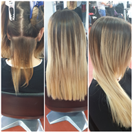 Balayage con extension